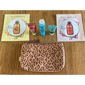 NEW IPSY Skincare/Haircare Set & Cheetah Print Bag